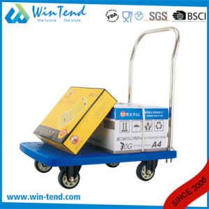 Plastic Heavy Duty Platform Utility Trolley with 4 Wheels pictures & photos