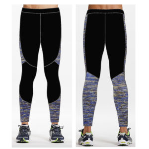 Mens Printed Running Training Activewear Compression Pants pictures & photos