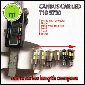 Canbus T10 6SMD 8SMD 10SMD 5730 Short Body Car LED Indicator Light /Reading Light/License Lamp