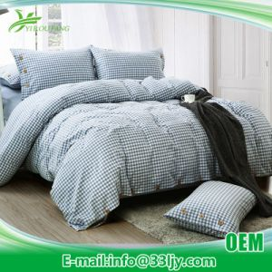 OEM Satin Blue Bedding Sets for Cottage pictures & photos