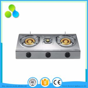 Three Burners Stainless Steel Gas Cooker, Gas Stove pictures & photos