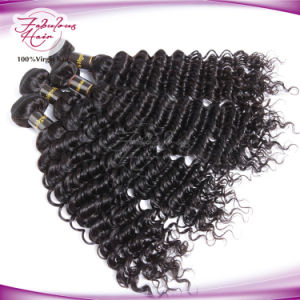 Hot Sale Indian Hair Natural Deep Wave Hair Weave pictures & photos