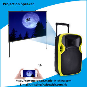 Professional 12 Inches Portable DJ Speaker with LED Projector pictures & photos