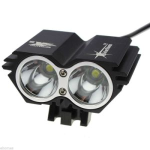 2PCS CREE U2 LED Black Bicycle Bike Light 2000 Lm T6 Head Light Lamp pictures & photos