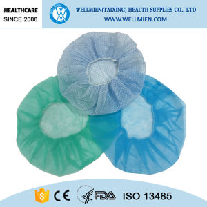 Round Doctor Cap with Elastic for Hospital Use pictures & photos