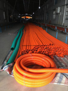 Suction Hose with White Bonds Smooth Inside and Corrugated Outside. pictures & photos