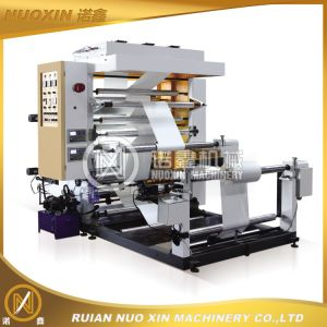 Two Color Plastic Film Flexographic Printing Machinery pictures & photos