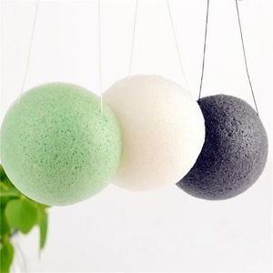 Charcoal Black Konjac Sponge Green Tea Konjac Sponge Pure Konjac Sponge pictures & photos