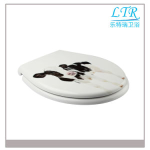 European Standard Top Fixing Printed Toilet Seat Cover pictures & photos