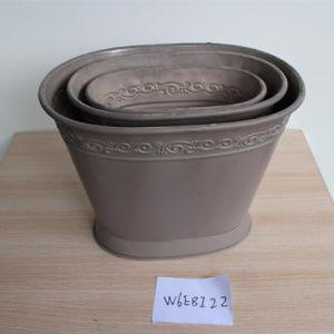 Antique Living Room Food Holder Metal Bucket Three Pieces