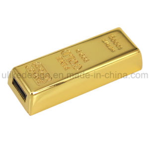 Golden Metal USB Flash Driver (M-050) pictures & photos