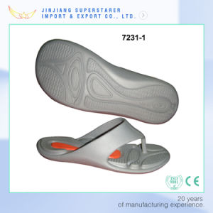 Simple Grey Color EVA Men Flip Flops Footwear pictures & photos