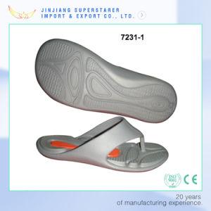 Simple Grey Color Men Flip Flops, Cheap and Light Flip Flops pictures & photos