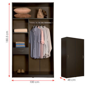 MDF Laminated Wooden Wardrobe (HX-DR352) pictures & photos
