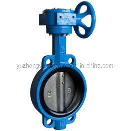 Wafer Type Butterfly Valve with Worm Gear Operation pictures & photos