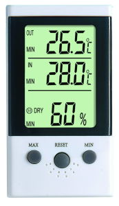 Indoor and Outdoor Room LCD Display Digital Thermometer Hygrometer Dt-3 pictures & photos