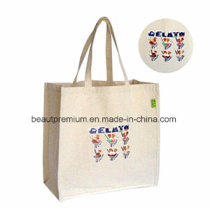 12 Ounces Canvas Recycled Shopping Bags with One Side Pattern Printing BPS090 pictures & photos