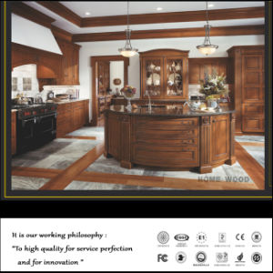 Antique Alder Wood Luxury Kitchen Cabinets pictures & photos