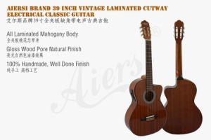 Aiersi Plywood Body Vintage Cutway Classical Electrical Guitars pictures & photos