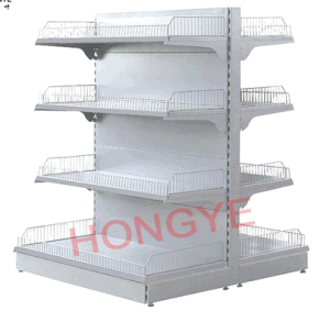 Korean Style Supermarket Shelf with Wire Mesh Stopper (OW-A07) pictures & photos