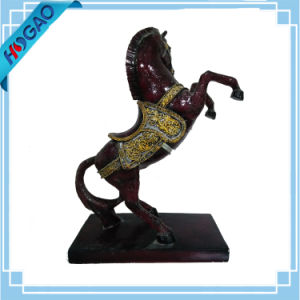 Rare Resin Horse Statue Exquisite Old Oriental Chinese Handmade Carved pictures & photos