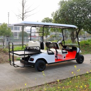 New Model 4 Seater Electric Golf Cart with Rear Flip Seats pictures & photos