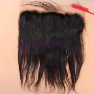 8A Indian Virgin Human Lace Frontal Closure Straight with Baby Hair Full Frontal Lace Closure 13X4 Frontals