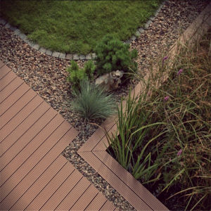 Wood Flooring for Swimming Pool and Cheap WPC Floor Tiles pictures & photos