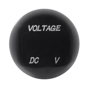 DC 12V-24V Red Waterproof LED Digital Display Voltmeter Socket for Vehicle Motorcycle Car Round Panel Voltage Meter Gauge Tester pictures & photos