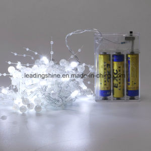 LED String Lights 20 LED Decorative Fairy Battery Powered String Lights String Light for Bedroom Wedding White Milk Pearl pictures & photos