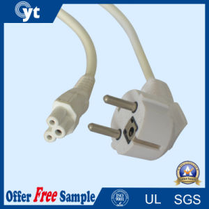 UL 10A 250V 3 Pin EU AC Power Extension Cord pictures & photos