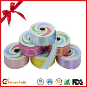Factory 100% Polyester Gold Strip Ribbon Roll pictures & photos