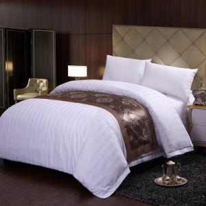 King Size Queen Size Hotel Bedding Sheet 60*40 Stripe Duvet Cover Set
