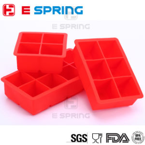 Amazon Hot Square Ice Tray Family DIY Drinking 4 6 8 Cavity Silicone Ice Cube Tray