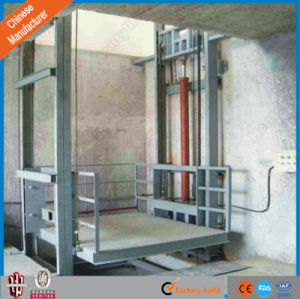 Chinese Manufacturer Supply Hydraulic Guild Rail Goods Lift for Warehouse pictures & photos