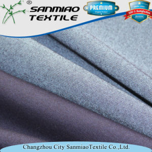 Yarn Dyed 20s Wholesale Poly Cotton Terry Knitted Denim Fabric for Jeans pictures & photos