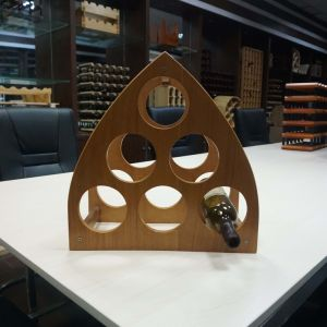6 Bottle Red label Oak Wooden Wine Rack pictures & photos