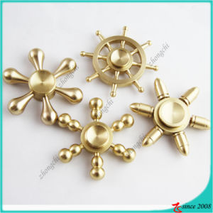 Wholesale Long-Time Rotating Finger Spinner Brass Fidget Spinner Toy pictures & photos