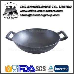 Smokeless Non Stick Enamel Cast Iron Chinese Frying Stove Wok pictures & photos
