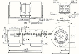 A/C Blower Without Resistor 006-B40-22 Spal Bus pictures & photos