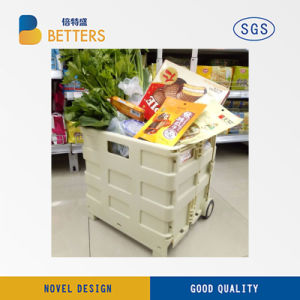 Plastic Foldable Basket with Handle pictures & photos