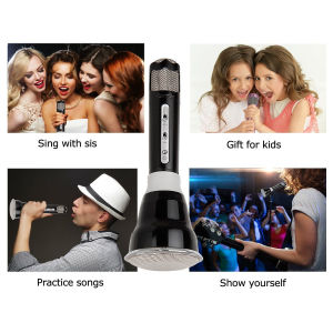 Wireless Microphones Karaoke, 3-in-1 Bluetooth Karaoke machine KTV(Black) pictures & photos