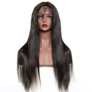 Cheap 7A Brazilian Virgin Human Hair Wigs 150% Density Best Straight Full Lace Wigs for Black Women pictures & photos