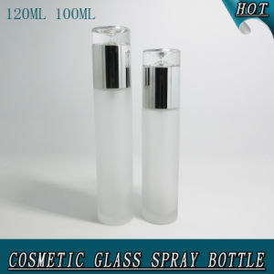 120ml Empty Frost Airless Glass Cosmetic Lotion Pump Bottle pictures & photos