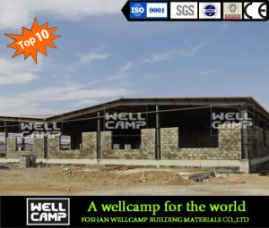 High Quality Steel Structure Warehouse with Brick Wall pictures & photos