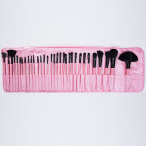 Promotional 32PCS Girl Cosmetic Makeup Brushes with Pink PU Portable Bag pictures & photos