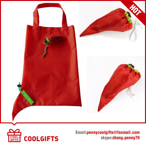 Compact 210d Polyester Lemon Folding Bag, Shopping Bag (CG128) pictures & photos