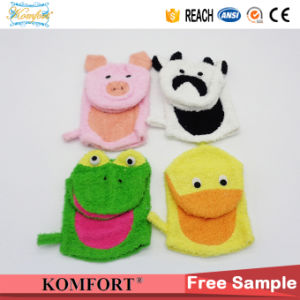 Klb-117 Animal Kids Hand Puppet Gift Sponge Softtextile Bath Glove pictures & photos