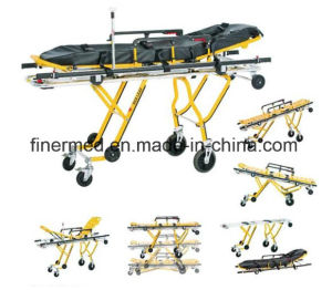 Adjustable Guardrail Type Ambulance Trolley Stretcher pictures & photos