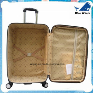 Leather Canvas Luggage Trolley Case PVC Trolley Luggage Suitcase pictures & photos
